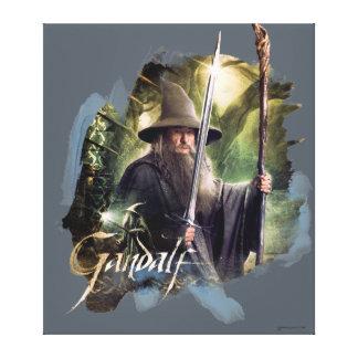 Gandalf con el personal y la espada lona estirada galerías