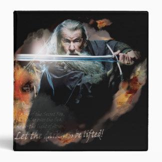 """Gandalf con la espada en batalla carpeta 1 1/2"""""""