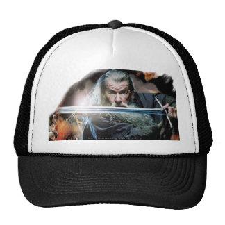 Gandalf con la espada en batalla gorros