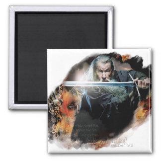 Gandalf con la espada en batalla imán de frigorífico