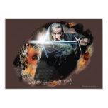 """Gandalf con la espada en batalla invitación 5"""" x 7"""""""