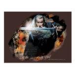 Gandalf con la espada en batalla postales