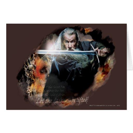 Gandalf con la espada en batalla tarjeta
