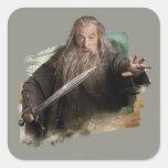 Gandalf con la espada etiquetas