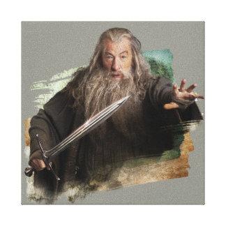 Gandalf con la espada impresión en lona estirada