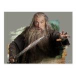 Gandalf con la espada postal