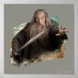 Gandalf con la espada póster