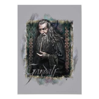 """Gandalf con nombre invitación 5"""" x 7"""""""