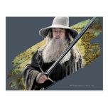Gandalf con verde de la espada tarjetas postales