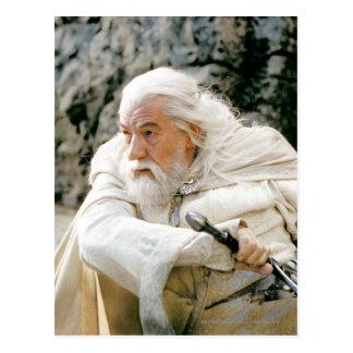 Gandalf el blanco con la espada tarjeta postal