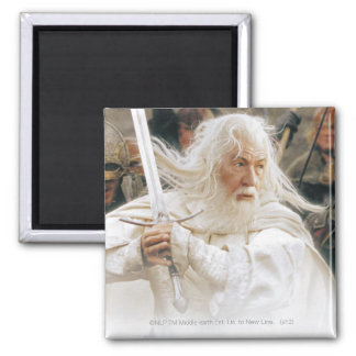 Gandalf Fight with Sword 2 Inch Square Magnet