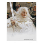 Gandalf Fight with Sword Poster