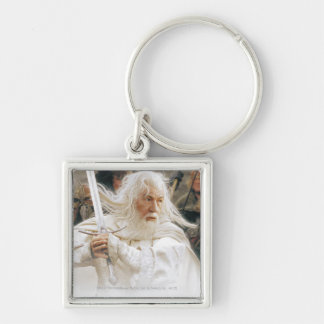 Gandalf Fight with Sword Silver-Colored Square Keychain