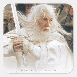 Gandalf Fight with Sword Square Sticker