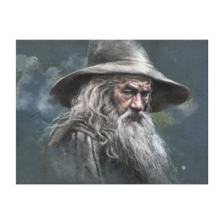 Gandalf Illustration Canvas Print