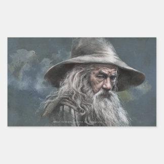 Gandalf Illustration Rectangular Sticker
