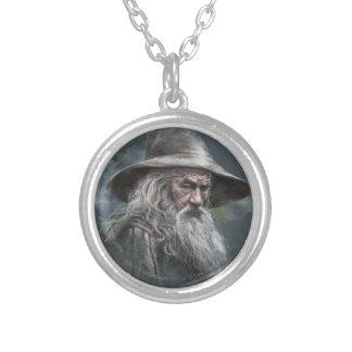 Gandalf Illustration Round Pendant Necklace
