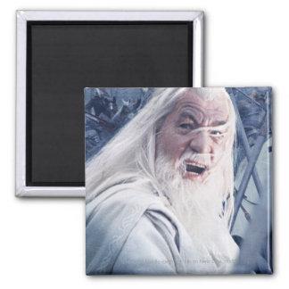 Gandalf In Battle 2 Inch Square Magnet
