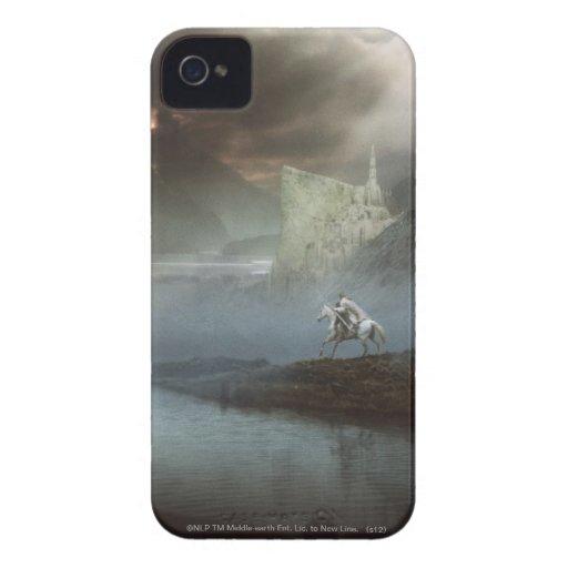 Gandalf lleva Hobbits la ciudad guardada Case-Mate iPhone 4 Cobertura