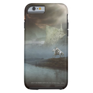 Gandalf lleva Hobbits la ciudad guardada Funda De iPhone 6 Tough