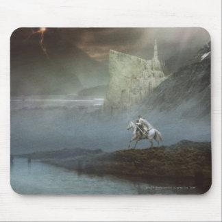 Gandalf lleva Hobbits la ciudad guardada Tapete De Raton