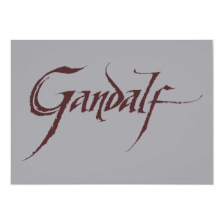 Gandalf Name Solid Card