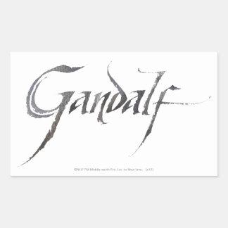 Gandalf Name Textured Rectangular Sticker