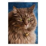 Gandalf - Silver Tabby Cat Art Greeting Card