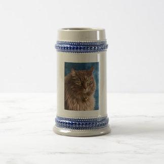 Gandalf - Silver Tabby Cat Art Coffee Mug