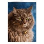Gandalf - Silver Tabby Cat Art Note Card