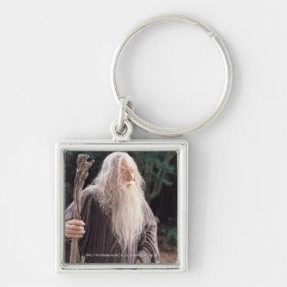 Gandalf Standing Silver-Colored Square Keychain