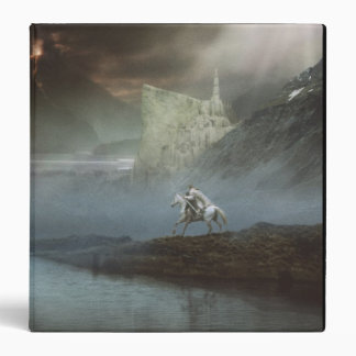 Gandalf Takes Hobbits to Guarded City 3 Ring Binder
