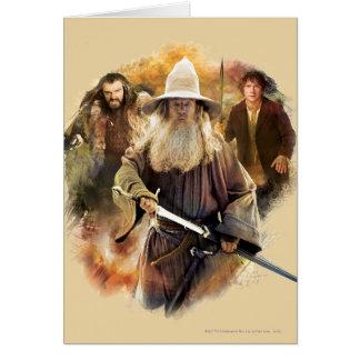 Gandalf, Thorin, Bilbo Greeting Cards
