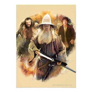 Gandalf, Thorin, Bilbo Custom Invites