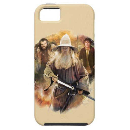 Gandalf, Thorin, Bilbo iPhone 5 Case-Mate Funda