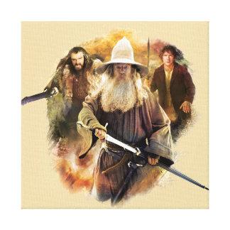 Gandalf, Thorin, Bilbo Lona Estirada Galerias
