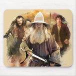 Gandalf, Thorin, Bilbo Mousepads