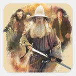 Gandalf, Thorin, Bilbo Pegatinas Cuadradases