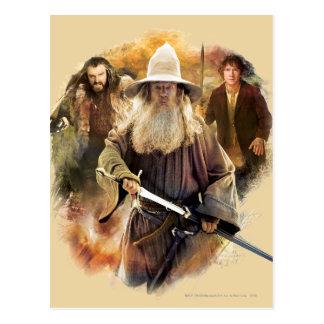 Gandalf, Thorin, Bilbo Post Cards