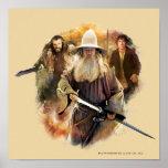 Gandalf, Thorin, Bilbo Posters