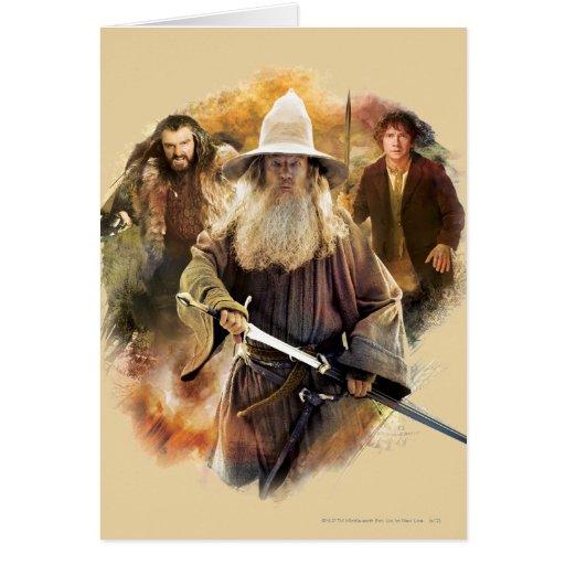 Gandalf, Thorin, Bilbo Tarjeton
