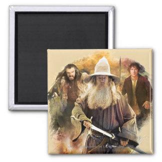 Gandalf, THORIN OAKENSHIELD™, & BAGGINS™ 2 Inch Square Magnet