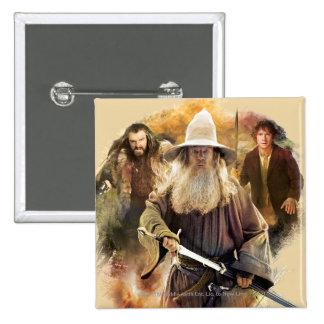 Gandalf, THORIN OAKENSHIELD™, & BAGGINS™ Button
