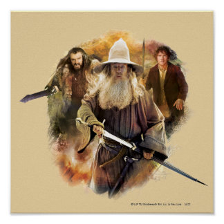Gandalf, THORIN OAKENSHIELD™, & BAGGINS™ Poster