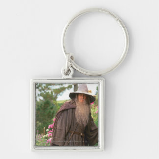 Gandalf with Hat Silver-Colored Square Keychain