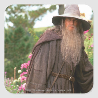 Gandalf with Hat Square Sticker