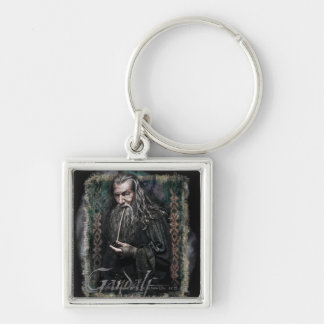Gandalf With name Silver-Colored Square Keychain