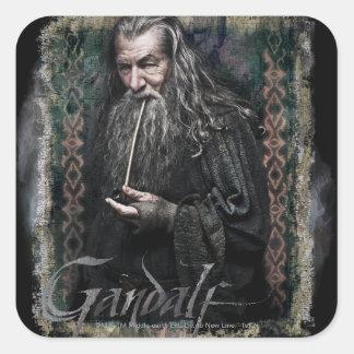 Gandalf With name Square Sticker