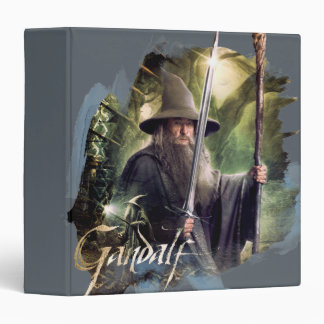 Gandalf With Staff And Sword 3 Ring Binder