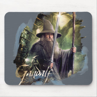 Gandalf With Staff And Sword Mousepads